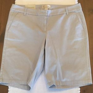 New with tags JCrew stretch chino Bermuda shorts